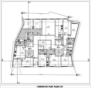 Birinci Bodrum Kat Planı